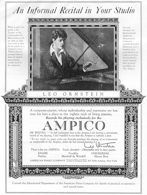 Advertisement for the Ampico Reproducing Piano