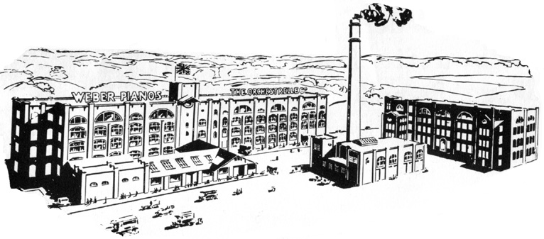 Aeolian Pianola factory at Hayes, Middlesex, England