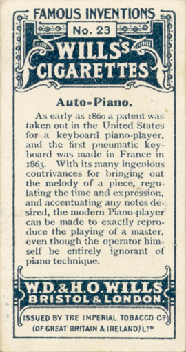 Wills's Cigarette Card - Reverse
