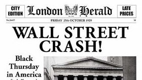 London Herald announces Wall Street Crash